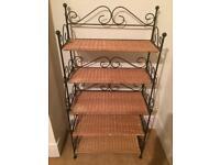 Cast iron shelf stand
