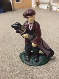 Cast iron door stop golfer