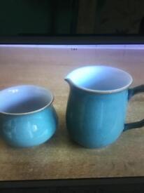 Regent green milk and sugar bowl