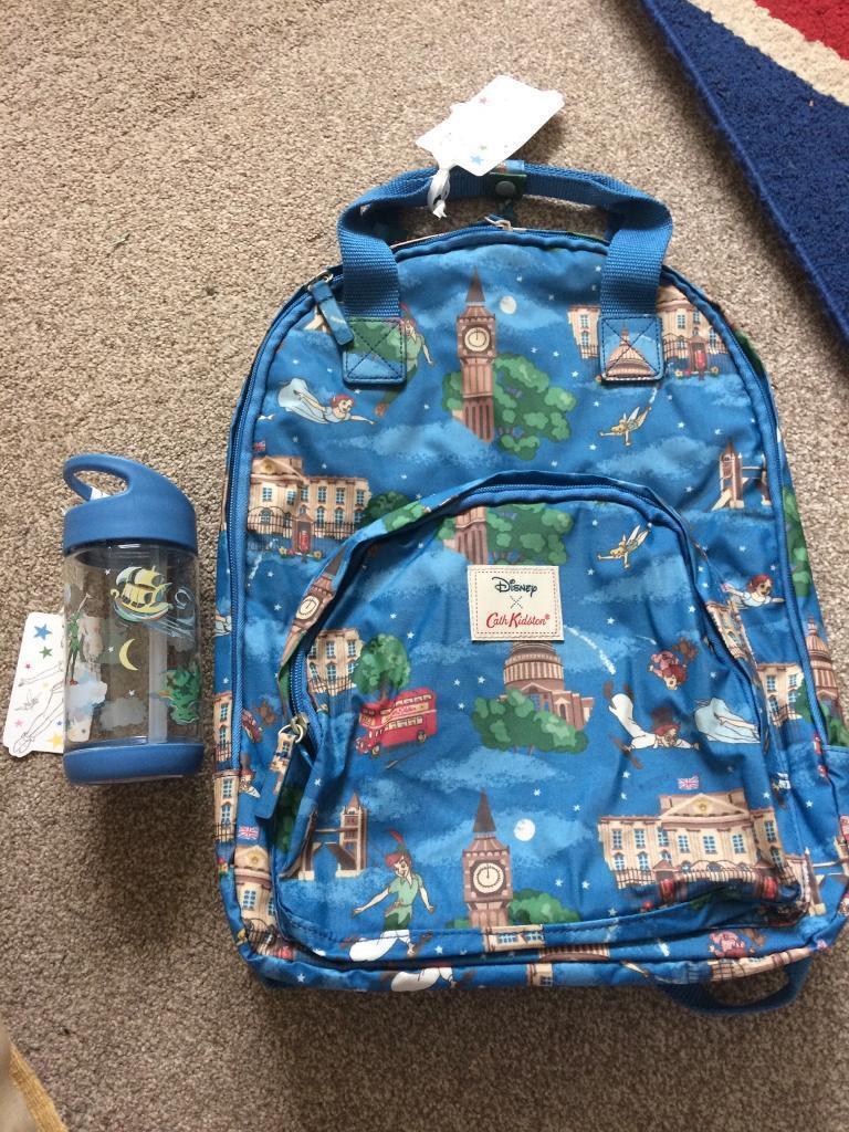 Cath Kidston PETER PAN Backpack   water bottle New!!