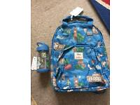 Cath Kidston PETER PAN Backpack & water bottle New!!