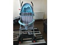 Very light weight stroller pushchair buggy. Good for travelling etc