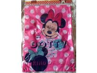 Brand new drawstring minnie mouse kids bags 2 for £5