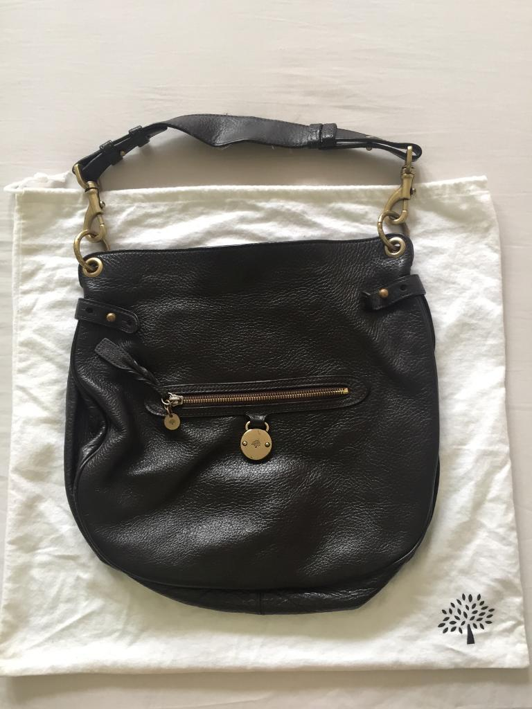 8662419092 Genuine Mulberry Somerset Shoulder Bag Chocolate Brown with Duster