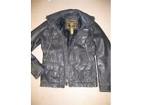 Superdry Leather Jacket size small.
