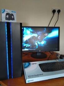 Intel Quad Core Gaming PC, 8GB RAM, HD 7770, Plays Fortnite, CSGO
