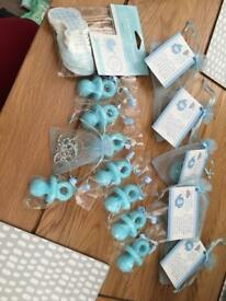 Boy baby shower favours and accessories