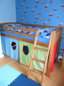 Pine Midi Sleeper with tent (No mattress)