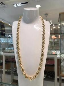 10k Yellow Gold Rope Chain Link 28 inches 9.6 mm 32.3 gr
