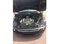 """Mini Cooper S r53 2003 black. """"Spares or repairs"""" no mot"""