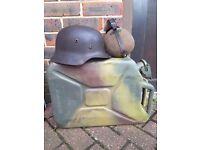 Ww2 german helmet and water