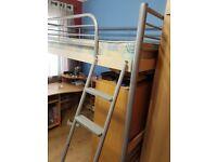 Beautiful high sleeper - no mattress (one step on ladder broken)