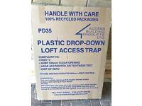 2 drop down plastic loft hatches
