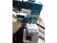 SEWING MACHINE BLUE COLOUR(JOHN LEWIS) & OVERLOCKER/SERGER BOTH NEW NOW 80 for the pair