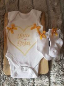 Little sister vest and socks set