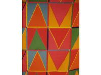 80s Designer Curtain Fabric