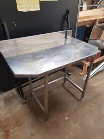 Steel worktop 103cm x 59 x 87