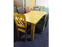 large solid OAK extendable dining table(only)