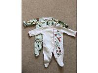 Baby girl 2pk Sleepsuits