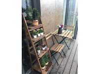 Balcony/Garden Chairs & Table, and flower stand