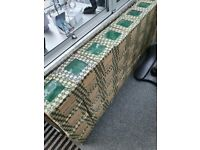 50X BOX OF GREEN CERAMIC TILES VITRA 20CMX20CM