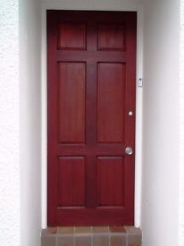 6 Panel Colonial Exterior Hardwood Door with Fittings 1981 x 832 – Collect SA48 8JZ