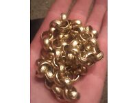 9ct gold belcher chain 12mm links 128g up for sw ops