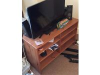 Wooden TV Stand and Lounge Table (COLLECTION ONLY)