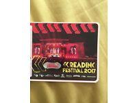 Reading full weekend festival ticket