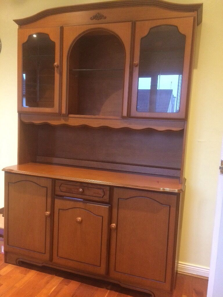 Dresser; excellent conditionin Dromore, County DownGumtree - Dresser; excellent condition. Good storage plus drawer in base cabinet and glass shelving in display cabinet. Lovely as it is or perfect fir upcycling project. Width 134cm, Height 194cm, Depth 45cm