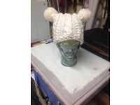Hand knitted chunky hat