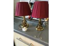 Pair of lovely table lamps for sale