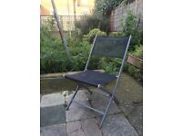 2 garden metal chairs