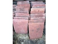 Antique red redland clay roof tiles 22 unused tiles- each measures 26 cm x 16cm
