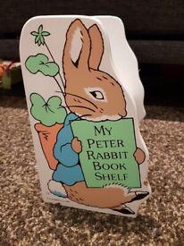 Peter Rabbit- 2 book shelves