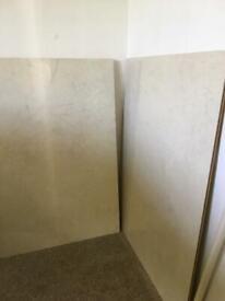 3x bathroom shower panels