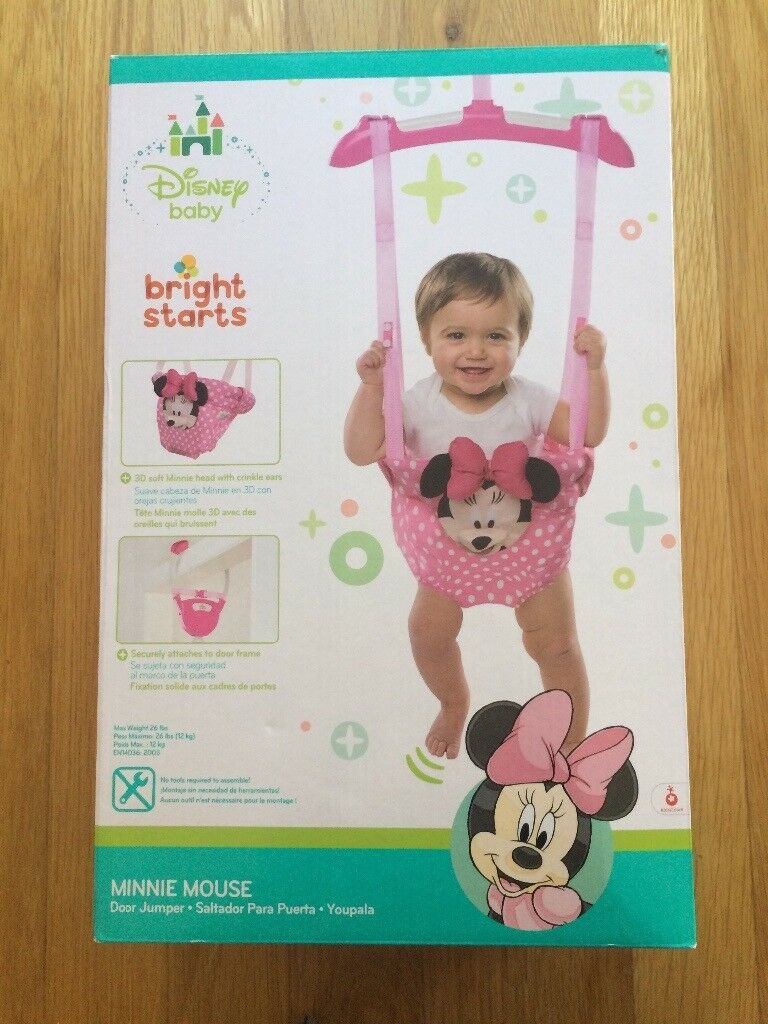 b041bfcfcf6f Baby Door Bouncer Jumper Disney Minnie Mouse Bright Starts Very ...