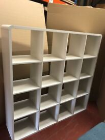 Emerson Bookcase And Shelving Unit In White High Gloss