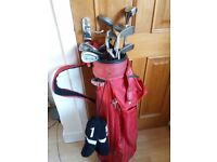 Golf clubs irons with bag ,balls and tees for sale  Dorset