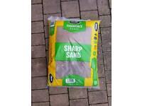 Sharp sand 3 bags.