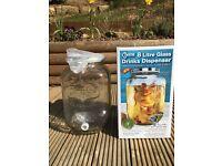 8 litre glass drinks jar dispenser