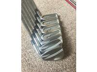 Titleist forged ZB irons 4-pw with head covers and golf pride grips