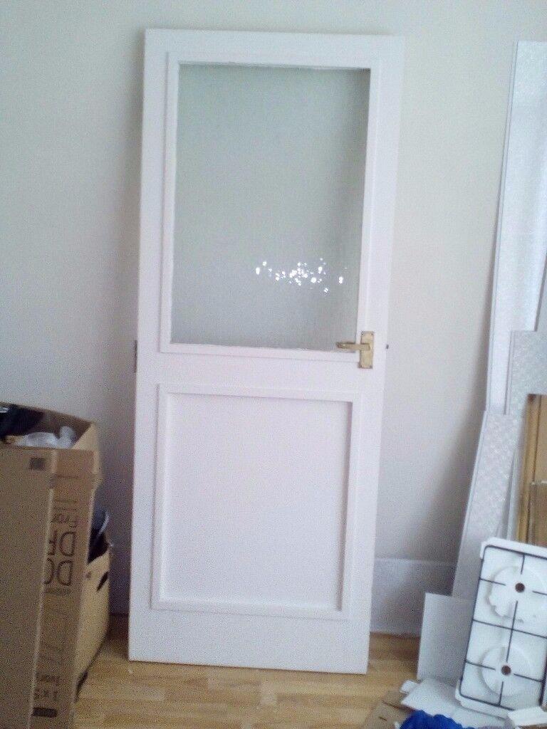 Wooden External Back Door Half Glazed In Middlesbrough