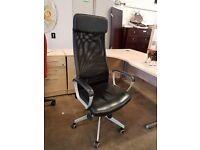 Highbacked office chair