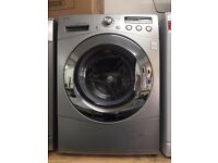 8KG LG WASHING MACHINE, CHROME DESIGN, EXCELLENT CONDITION ,4 MONTHS WARRANTY, FREE INSTALLATION