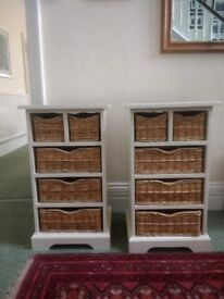 Cotswold bedside tables pair matching