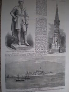 View of Dwarka Gujurat India 1860 old print