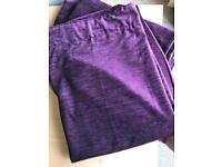 "Pair 90"" purple curtains *new*"