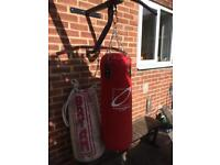 Punch bags and pull up bar