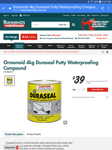 Duraseal putty waterproofing Fairfield Fairfield Area Preview